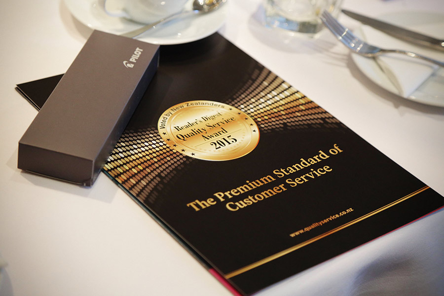 Readers Digest Quality Service Awards 2015