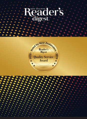 Readers Digest NZ Quality Awards 2019