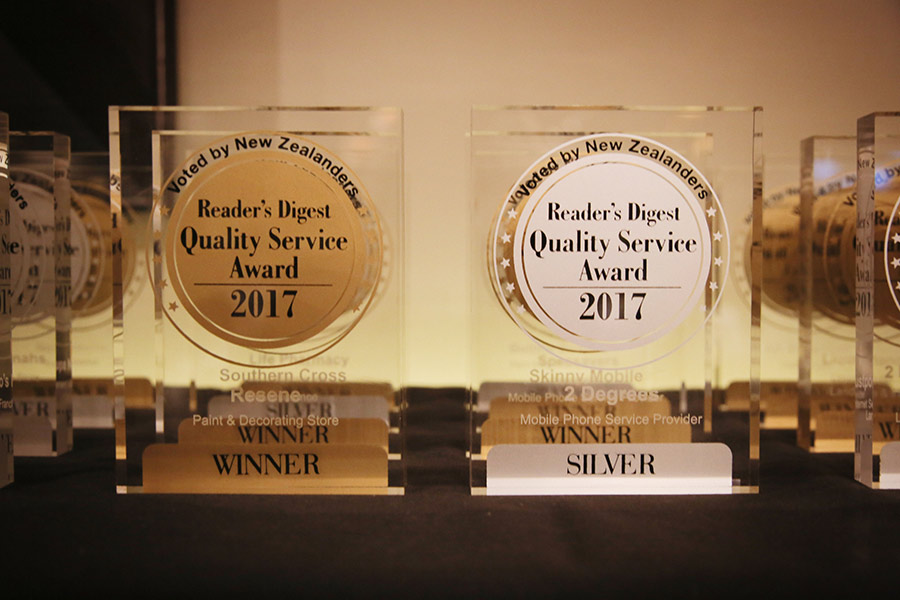 Readers Digest Quality Service Awards 2017