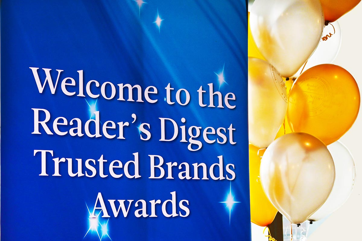 Readers Digest Trusted Brands New Zealand 2020 Awards